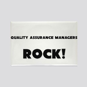 Quality Assurance Managers ROCK Rectangle Magnet