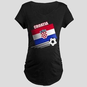 Croatia Soccer Team Maternity Dark T-Shirt