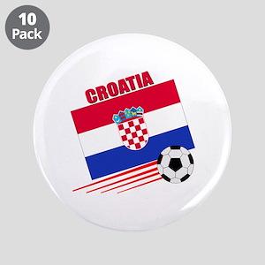 "Croatia Soccer Team 3.5"" Button (10 pack)"
