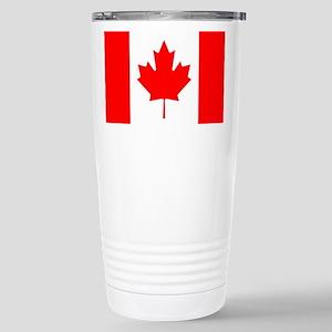 Canadian Flag Stainless Steel Travel Mug