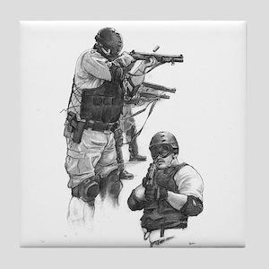 Corrections Cert Shot Gun Tile Coaster