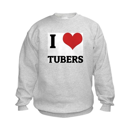 I Love Tubers Kids Sweatshirt