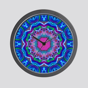 Cyberdelic Kaleidoscope Wall Clock