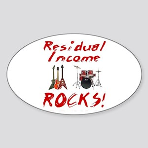 Residual Income Rocks! Oval Sticker