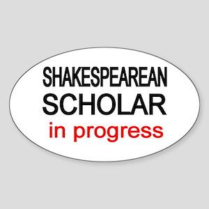 Shakespearean Scholar Oval Sticker