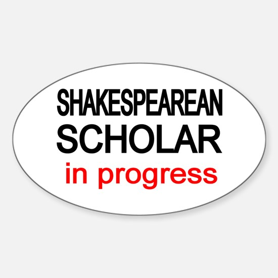 Shakespearean Scholar Oval Decal