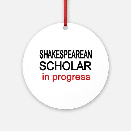 Shakespearean Scholar Ornament (Round)