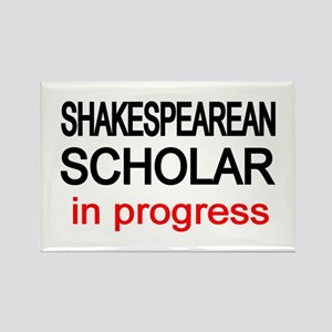 Shakespearean Scholar Rectangle Magnet