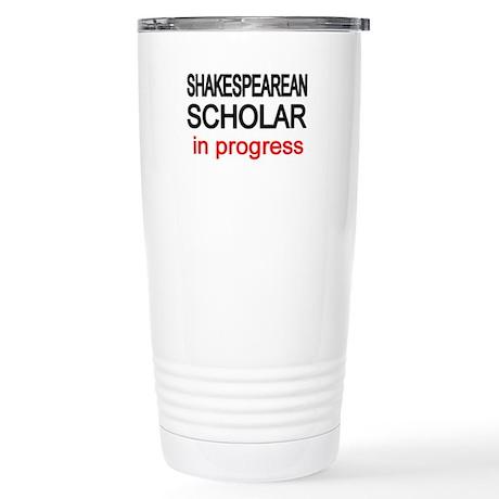 Shakespearean Scholar Stainless Steel Travel Mug