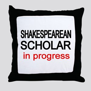Shakespearean Scholar Throw Pillow