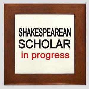 Shakespearean Scholar Framed Tile