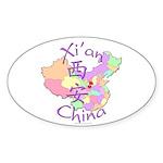 Xi'an China Oval Sticker (10 pk)