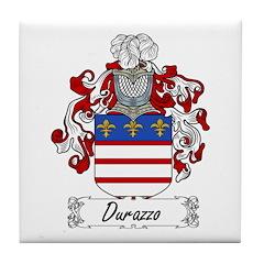 Durazzo Family Crest Tile Coaster