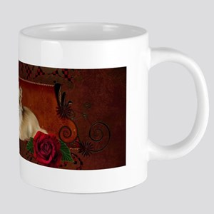 Cute chihuahua with roses Mugs