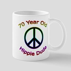 Hippie Dude 70th Birthday Mug