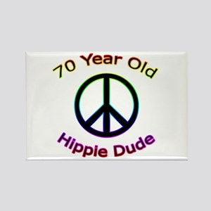 Hippie Dude 70th Birthday Rectangle Magnet