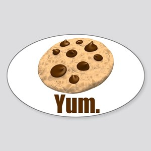 Yum. Cookie Sticker (Oval)