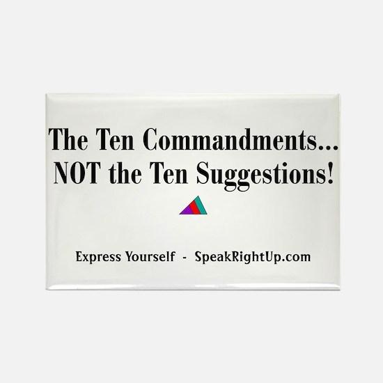 Ten Commandment Rectangle Magnet