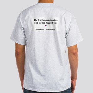 Ten Commandments NOT Ten Suggestions Light T-Shirt