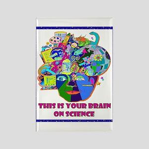 science brain Rectangle Magnet