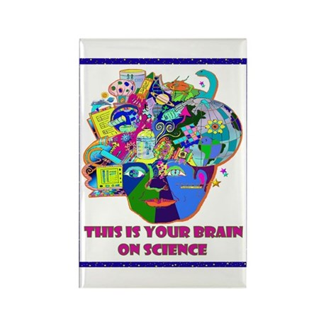 science brain Rectangle Magnet