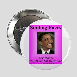 """Smiling Faces"" 2.25"" Button"