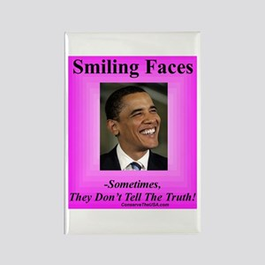 """""""Smiling Faces"""" Rectangle Magnet"""