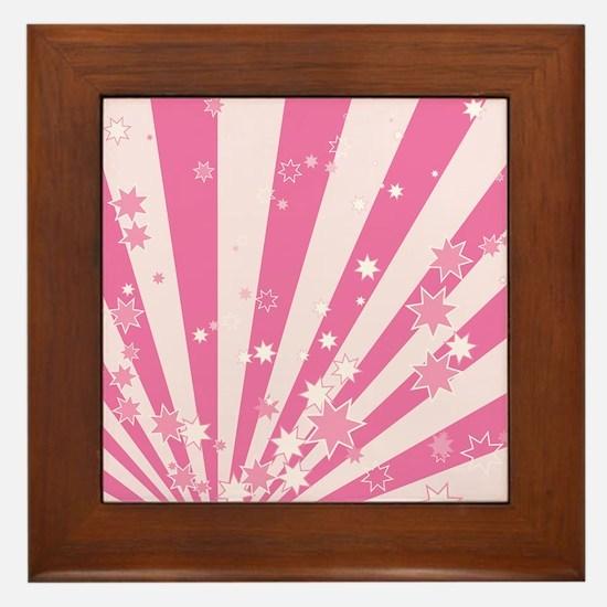 PINK STARS Framed Tile