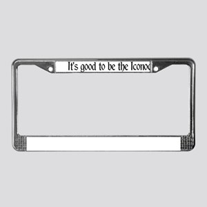 It's good...Iconoclast License Plate Frame