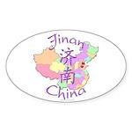 Jinan China Oval Sticker (10 pk)