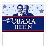 Pennsylvania for Obama Yard Sign