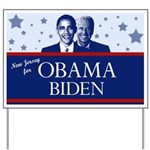 New Jersey for Obama Yard Sign