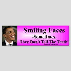 """Smiling Faces"" Bumper Sticker"