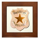 Salt Lake City Police Framed Tile
