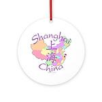 Shanghai China Ornament (Round)