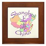 Shanghai China Framed Tile