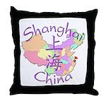 Shanghai China Throw Pillow