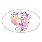 Shanghai China Oval Sticker (10 pk)