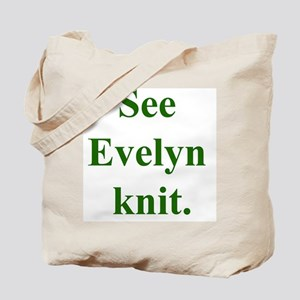 Evelyn Knits Tote Bag