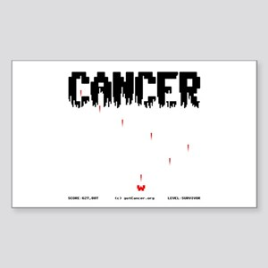Game Over Cancer Rectangle Sticker