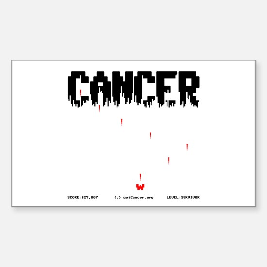 Game Over Cancer Rectangle Decal