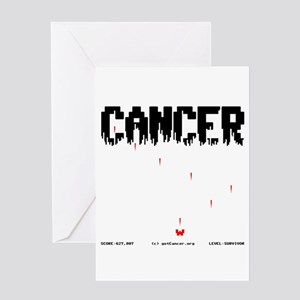 Game Over Cancer Greeting Card