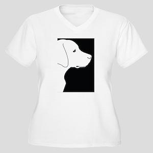 Black Lab Women's Plus Size V-Neck T-Shirt