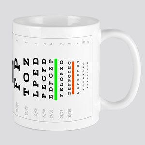 SnellenChartHs Mugs