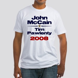 McCain Pawlenty Fitted T-Shirt