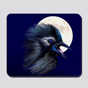 Manic Raven with Moon Mousepad