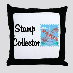 Stamp collector Throw Pillow