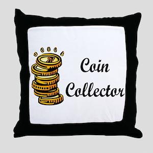 Coin Collector Throw Pillow
