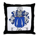 Falce Family Crest Throw Pillow