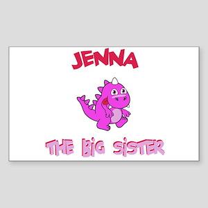 Jenna - Dino Big Sister Rectangle Sticker